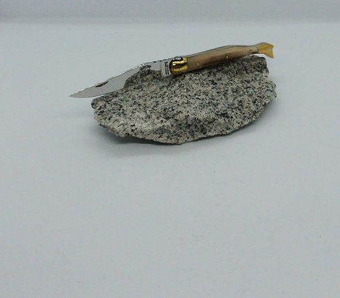 Couteau 10 cm - forme de bottine - pointe de corne
