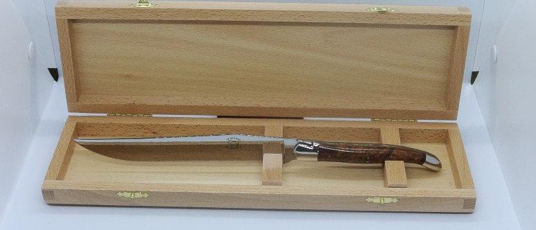 Couteau à découper - inox brillant et bois massif
