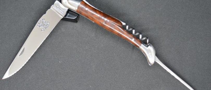 Couteau 3 pièces - bois massif - inox