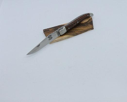 Couteau 12 cm  - inox satiné et bois massif