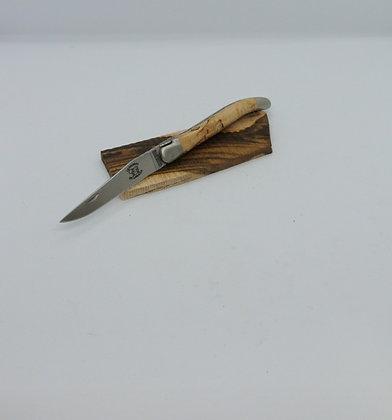 Couteau 11 cm - inox satiné et bois massif