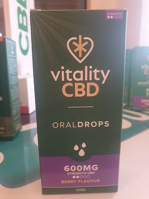 600mg vitality drops berry