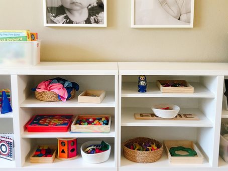 A Current Montessori Inspired Shelf