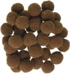 Brown pom-poms