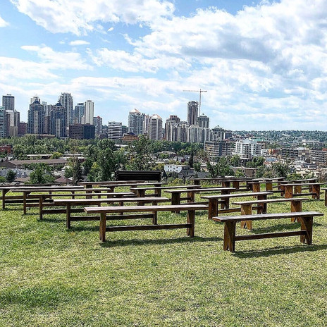Rustic Benches with a view