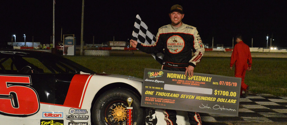 Travis Sauter Survives Caution Filled Race to Win 36th Annual Stateline Challenge