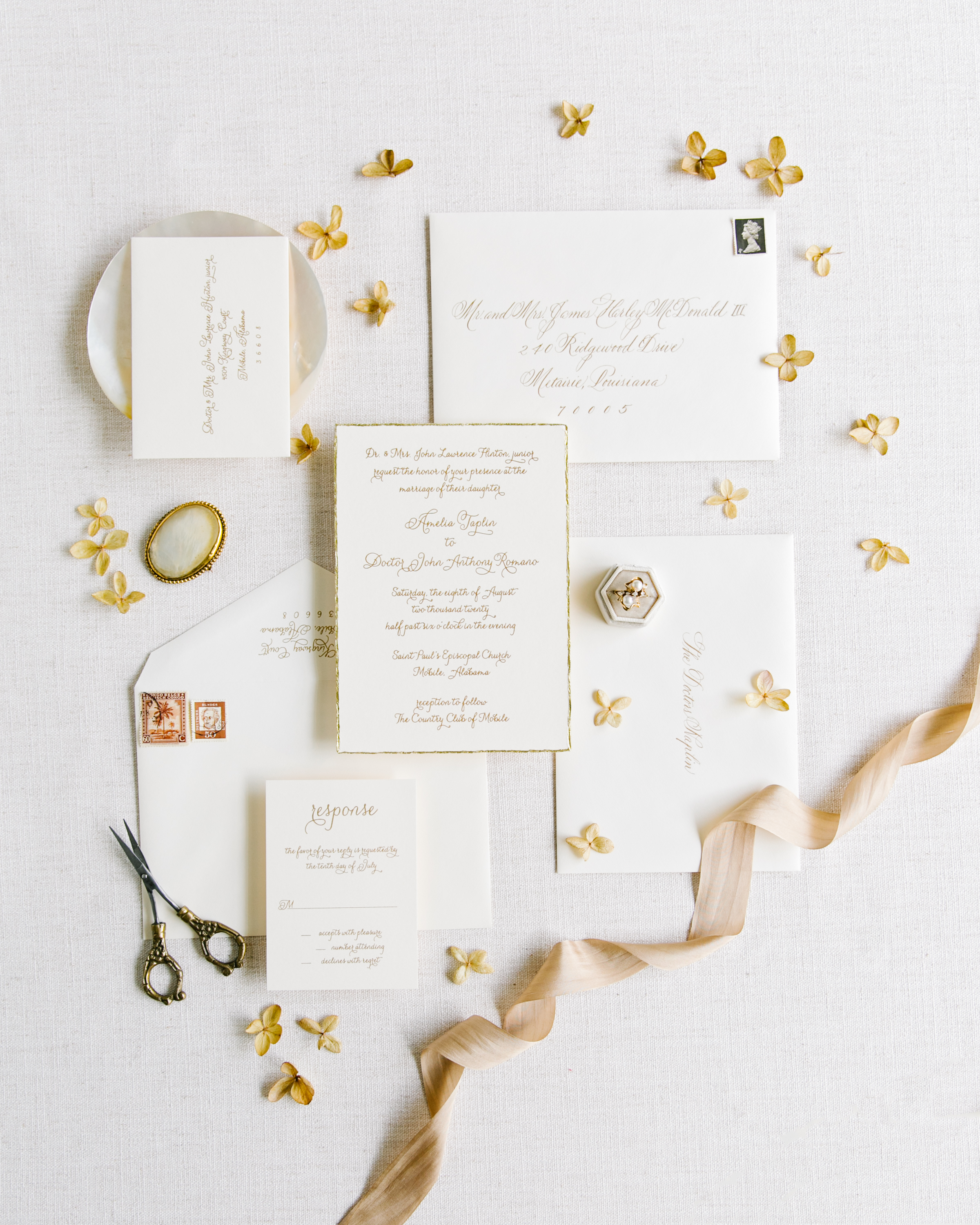 elegant luxury wedding invitation suite