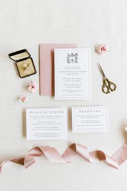 elegant luxury wedding invitation suite