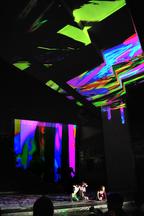 2019미디어아트페스티벌 미디어아트_진시영 'Light Drawing-Flow' 물감퍼포먼스_솔비(권지안) 'Violet'