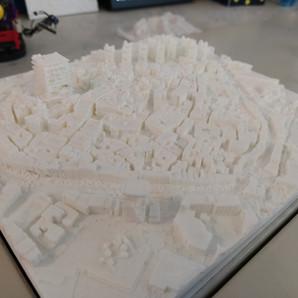 Impression 3D de Manosque modélisée sous Minecraft