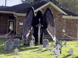 Katy Boy Buys 'Dark Angel' Halloween Décor Causing Neighborhood Stir