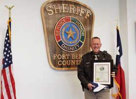 Fort Bend Deputy Saves Teen from Suicide, Receives Award