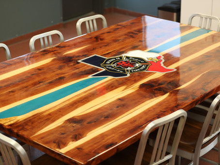 Katy Firefighters Built Personalized Tables for Fire Houses Adding Value, Pride