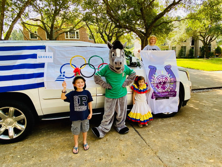 Katy School Features 26 Countries During International Car Parade