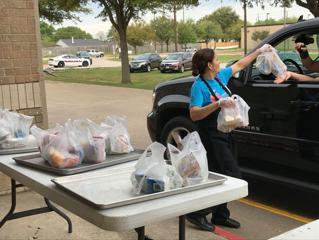 Katy ISD Serves Students with Virtual Learning and Drive-thru Meals