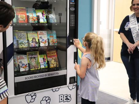 Katy's Bryant Elementary Gets District's First Book Vending Machine