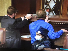 Fort Bend County Congressman Stands with Police Inside the Capitol During Insurrection