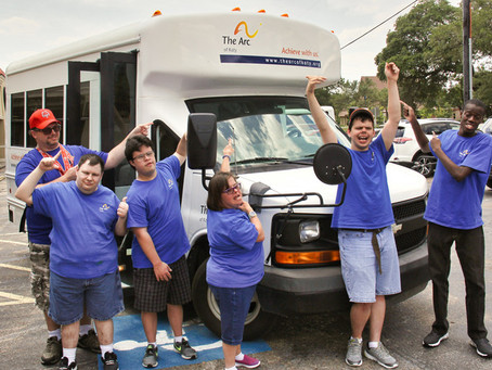 New Bus Provides Wonderful Opportunities for Arc of Katy Participants