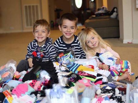 Katy Kids Collect 700 New Socks For Homeless
