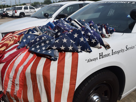 Katy Officers Collecting Worn-Out American Flags