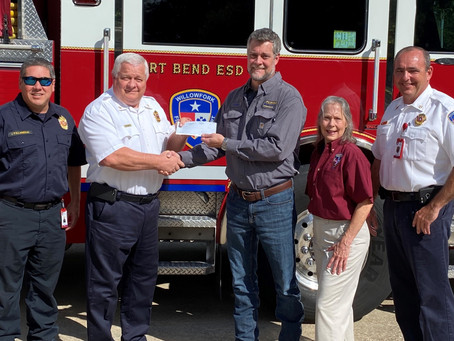 Katy's Willowfork Fire Department Receives Donation for Gas Response Equipment