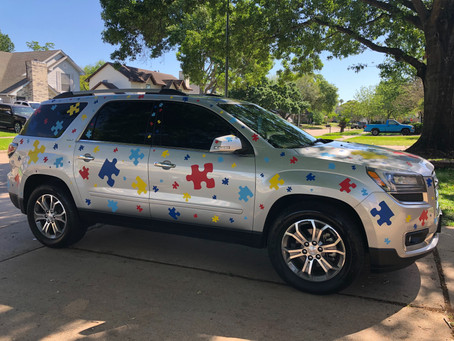 Katy Mom Decorates Car to Raise Awareness for Autism