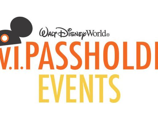V.I.Passholder Event Returning to Magic Kingdom & Typhoon Lagoon