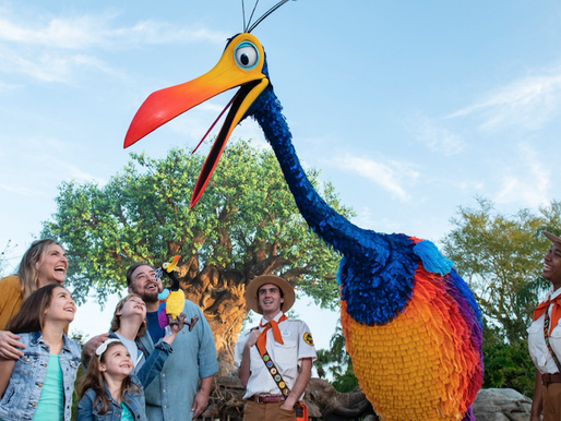 Kevin from Pixar's Up Now Appearing at Disney's Animal Kingdom