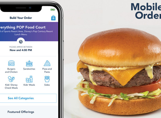 Mobile Food Order Service Coming to Select Disney World Resort Hotels