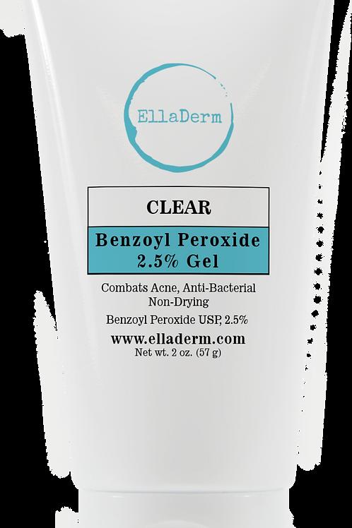 EllaDerm Clear Benzoyl Peroxide 2.5% Gel