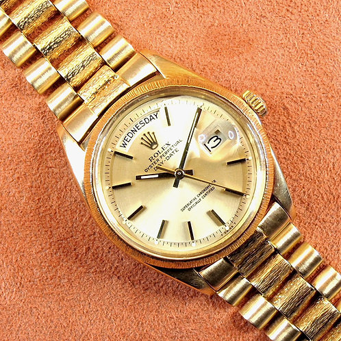 "Rolex Day-Date 1807 ""Bark Finish"" 18k"
