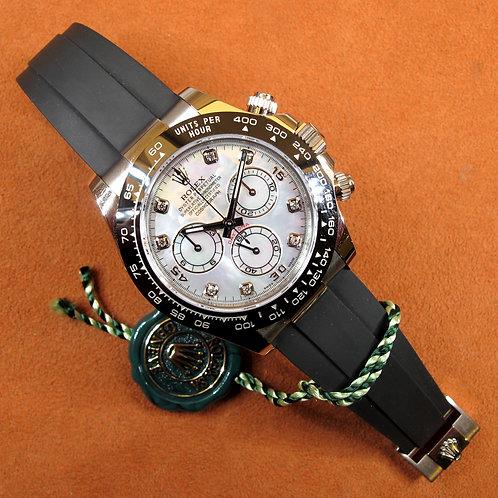 "Rolex Daytona 18k Or Blanc ""Mother of Pearl Diamond Dial""  116519LN"