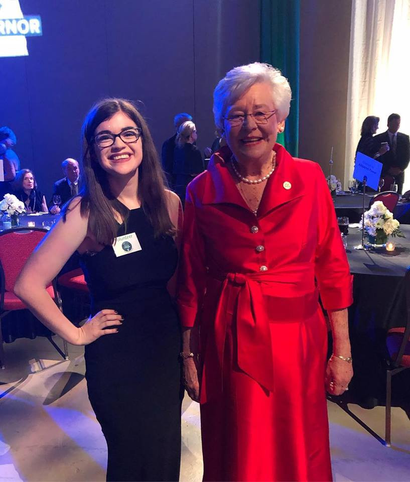 Samford Chair Janey Whitney with Governor Kay Ivey