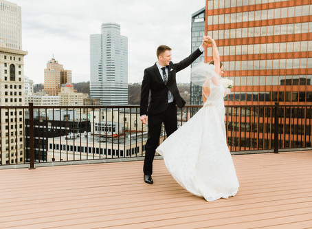 Winter Wedding in the City | Dan + Rose | Downtown Pittsburgh & Station Square