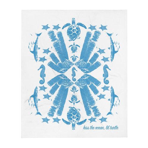 Seascape Blue Throw Blanket