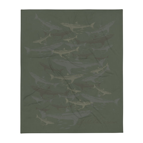 Camo Great White Throw Blanket