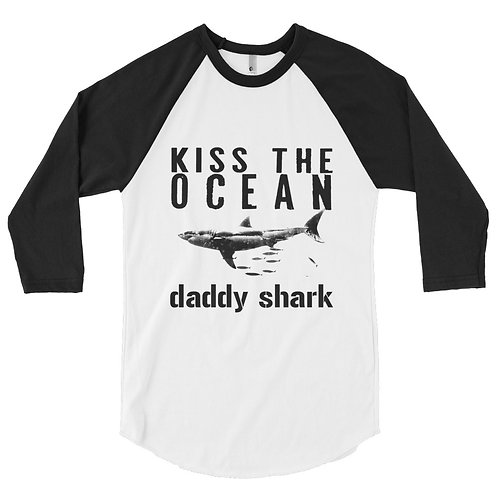 Daddy Shark 3/4 Sleeve Raglan Shirt