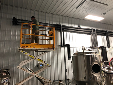 Glycol Plumbing with Scissor Lift