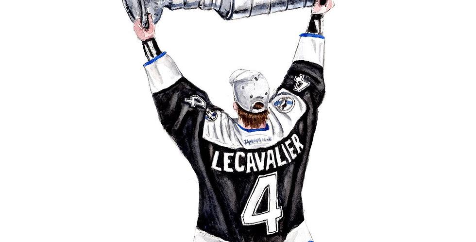 Vincent Lecavalier - 2004 Stanley Cup Champs - Print