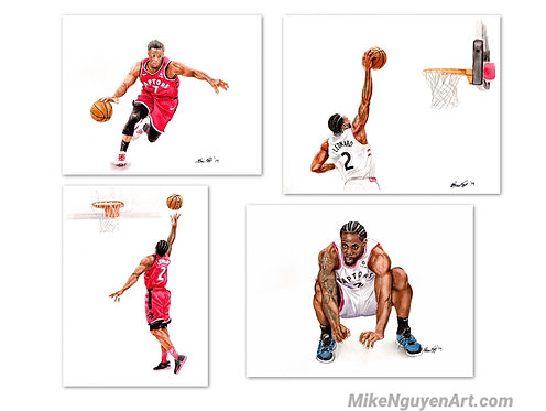 Raptors Set - 4 Prints