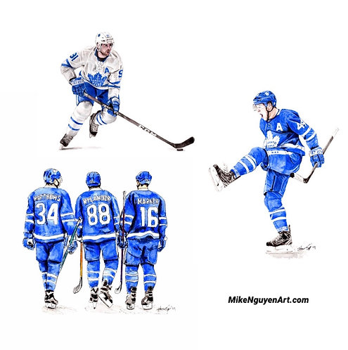 Maple Leafs Set II - 3 Prints