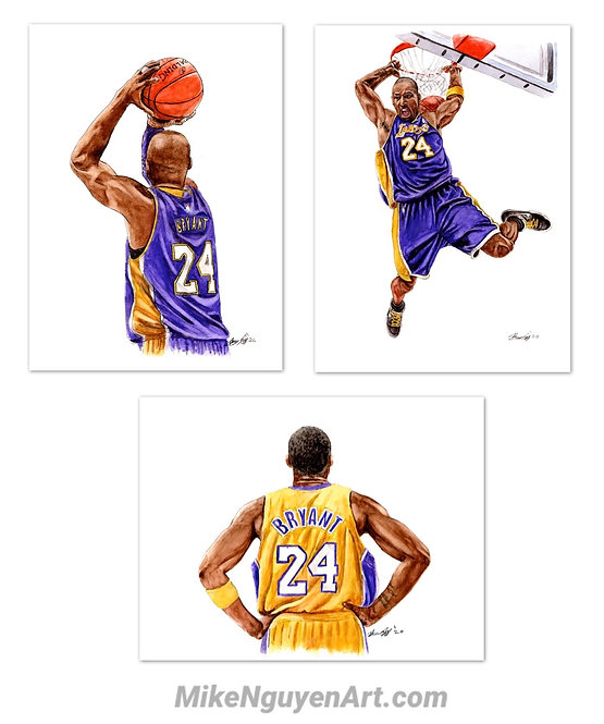 Kobe Bryant Set - 3 Prints