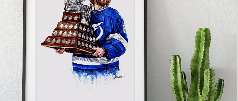 Vasy with Conn Smythe Trophy, 2021 Stanley Cup Champion  - Print