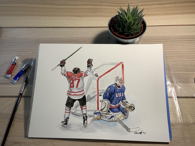 Thumbnail: Sidney Crosby, Golden Goal - Print