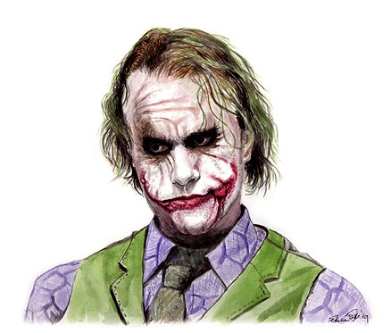 The Joker, Heath Ledger - Print