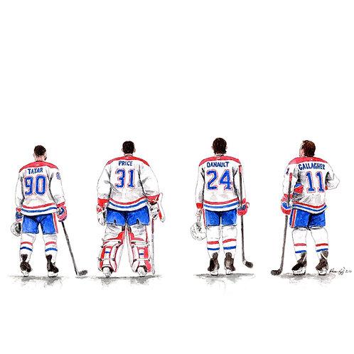 MONTREAL CANADIENS LINE - ORIGINAL
