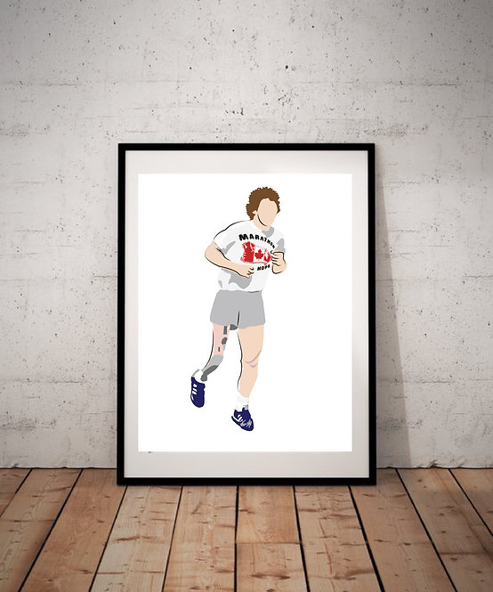 Terry Fox - Illustration Print