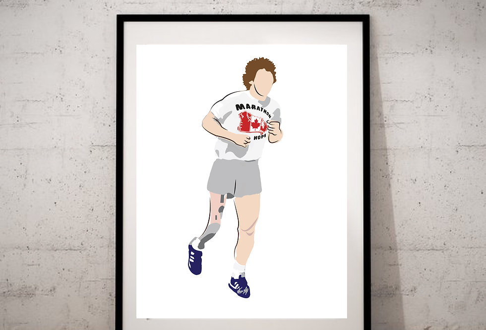 Terry Fox - Illustration Print