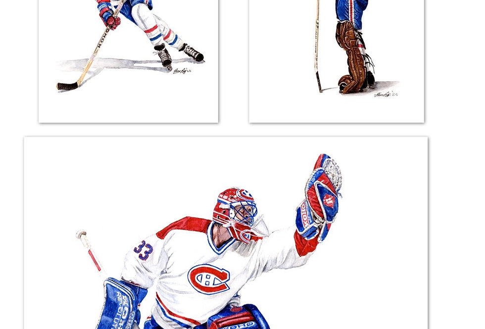 Montreal Canadiens Set - 3 Prints