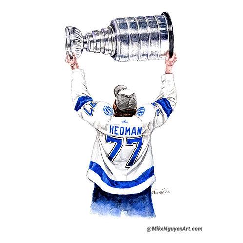 VICTOR HEDMAN, 2020 STANLEY CUP CHAMPIONS - ORIGINAL